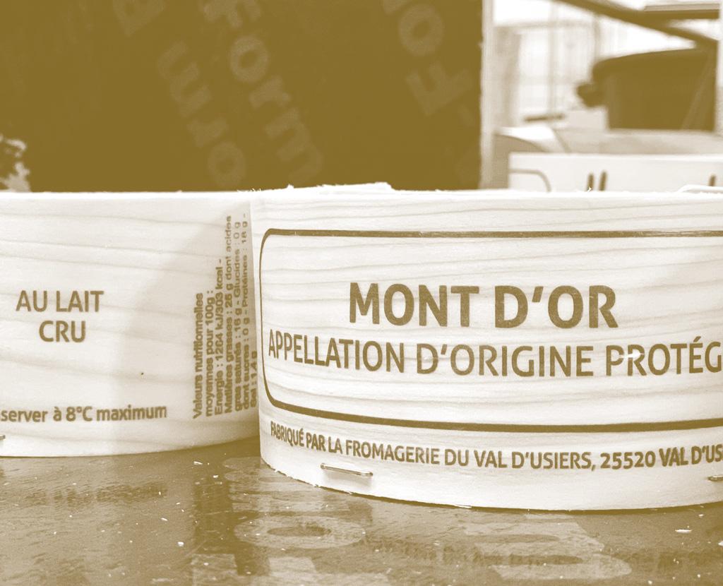 Boite de fromange Mont'dor Fabriquée TOUILLON-ET-LOUTELET par la société EBT